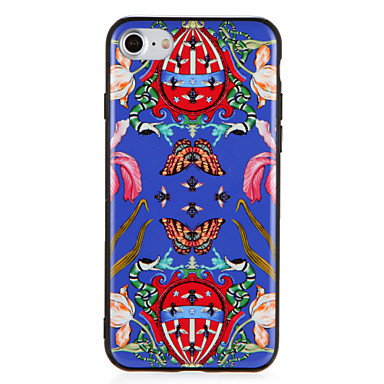 hoesje Voor Apple iPhone 7 Plus iPhone 7 Patroon Achterkant Vlinder Bloem dier Hard PC voor iPhone 7 Plus iPhone 7 iPhone 6s Plus iPhone