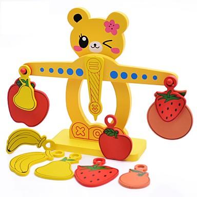 Spielzeugrechenbrett Steckpuzzles Spielzeuge Frucht Naturholz Unisex Stücke