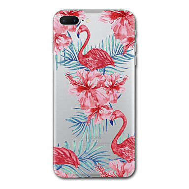 hoesje Voor Apple Transparant Patroon Achterkantje Flamingo Zacht TPU voor iPhone 7 Plus iPhone 7 iPhone 6s Plus iPhone 6 Plus iPhone 6s
