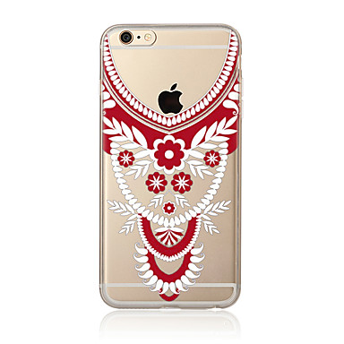 Hülle Für Apple iPhone 7 Plus iPhone 7 Transparent Muster Rückseite Lace Printing Weich TPU für iPhone 7 Plus iPhone 7 iPhone 6s Plus