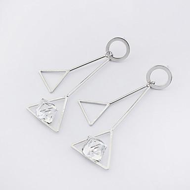 Dames Druppel oorbellen Modieus Euramerican Koper Glas Geometrische vorm Driehoekige vorm Sieraden Voor Causaal