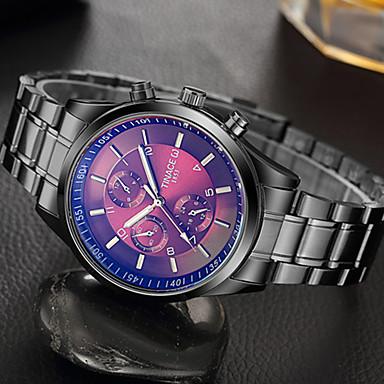 Heren Unieke creatieve horloge Polshorloge Modieus horloge Vrijetijdshorloge Kwarts Roestvrij staal Band Luxe Creatief Informeel Elegant