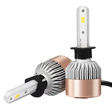 2pcs h1 csp führte Auto-Scheinwerferbirne weißes Licht 6500k 7200lm, das Scheinwerfer-Fernlicht-Scheinwerfer-Selbst geführtes Auto