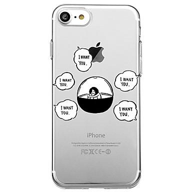 hoesje Voor Apple iPhone 7 Plus iPhone 7 Transparant Patroon Achterkant Woord / tekst Cartoon Zacht TPU voor iPhone 7 Plus iPhone 7