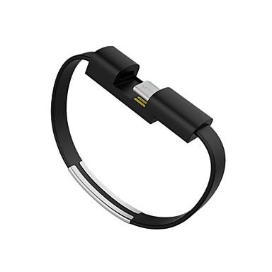 halpa Kaapelit ja adapterit-USB 2.0 / C-tyypin Kaapeli <1m / 3ft Kannettava / Tasapohja Muovit / PVC USB-kaapelisovitin Käyttötarkoitus Samsung / Huawei / LG