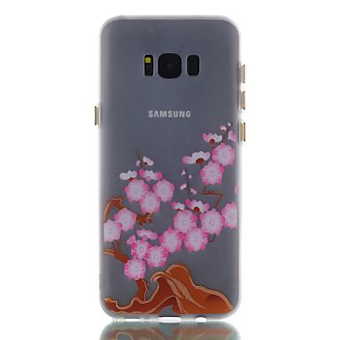 غطاء من أجل Samsung Galaxy S8 Plus S8 يضوي ليلاً مثلج نموذج غطاء خلفي زهور ناعم TPU إلى S8 S8 Plus S7 edge S7