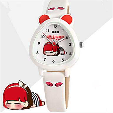 Dames Modieus horloge Chinees Kwarts Leer Band Informeel Wit Groen