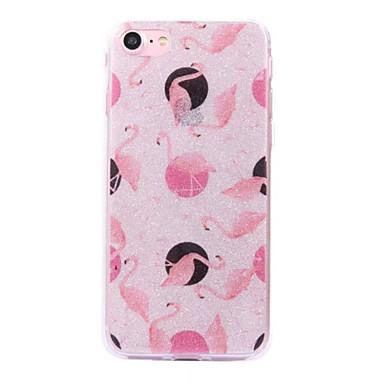 Für Apfel iphone 7 7plus Fall Bucht Flamingo Muster Blitz Pulver imd Prozess tpu Material Telefon Fall iphone 6 6s plus se 5s 5