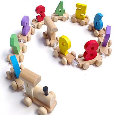 Jucării pentru mașini Jucării Educaționale Tren Jucarii Tren Lemn de Copil Bucăți