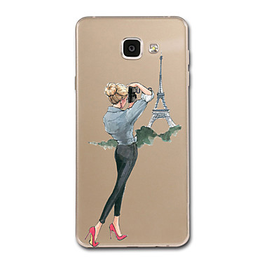 hoesje Voor Samsung Galaxy A5(2017) A3(2017) Transparant Patroon Achterkantje Zacht voor A3 (2017) A5 (2017) A7 (2017) A8