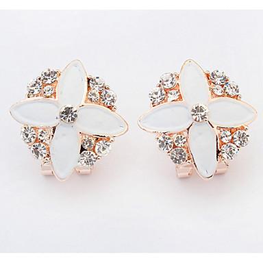 Dames Oorknopjes Druppel oorbellen Ring oorbellen Bergkristal Gepersonaliseerde Bloemen Religieuze sieraden Luxe Meetkundig Uniek ontwerp