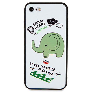 Case For Apple iPhone 7 Plus iPhone 7 Pattern Back Cover Elephant Soft TPU for iPhone 7 Plus iPhone 7 iPhone 6s Plus iPhone 6s iPhone 6