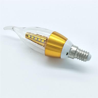5W E14 Becuri LED Lumânare CA35 25 led-uri SMD 2835 Decorativ Alb Cald 350lm 3000K AC 220-240V