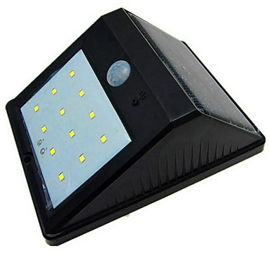 0.5W أضواء شمسية LED جسم الإنسان الاستشعار حائط الخارج إضاءة خارجية أبيض دافئ