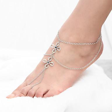 للمرأة خلخال/سوار سبيكة موضة تركي Flower Shape مجوهرات من أجل يوميا فضفاض