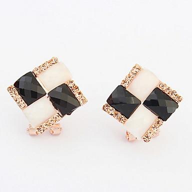 Dames Oorknopjes Druppel oorbellen Ring oorbellen Synthetische Opaal Synthetische Diamant Gepersonaliseerde Uniek ontwerp Logostijl