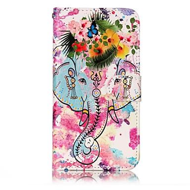 Für huawei p10 lite p8 lite2017 Gehäuseabdeckung Kartenhalter Brieftasche geprägtes Muster Ganzkörper-Etui Elefant hartes PU-Leder für p10
