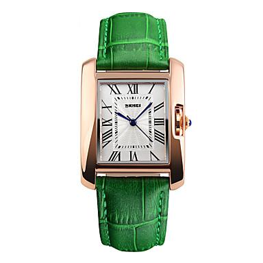 זול שעוני גברים-בגדי ריקוד גברים שעוני ספורט שעון יד דיגיטלי עור אמיתי צבעוני 50 m עמיד במים מגניב אנלוגי קסם אופנתי אלגנטית שעוני שמלה שעון קריאייטיב ייחודי - קפה אדום ירוק שנתיים חיי סוללה / מקסיל SR626SW