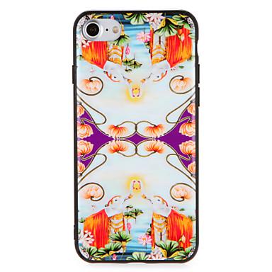 Hülle Für Apple iPhone 7 Plus iPhone 7 Muster Rückseite Blume Elefant Hart PC für iPhone 7 Plus iPhone 7 iPhone 6s Plus iPhone 6s iPhone