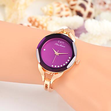 Damen Modeuhr Armbanduhr Einzigartige kreative Uhr Armbanduhren für den Alltag Quartz Legierung BandBettelarmband Cool Bequem Kreativ