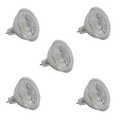 5W 380-420 lm GU5.3 Spoturi LED MR16 1 led-uri COB Alb Cald Alb