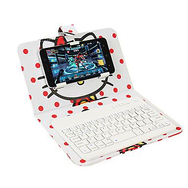 Voor case cover met standaard toetsenbord flip patroon full body case cartoon hard pu leer voor universele iphone 7 7 plus 6s 6 bluetooth