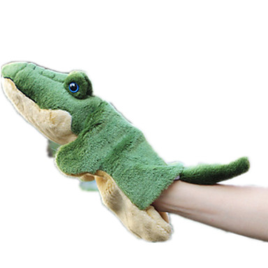Fingerpuppen Puppen Stofftiere Spielzeuge Krokodilleder Stil Tier Tiere Simulation Tactel Kinder Stücke