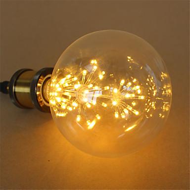 3W E27 Bulb LED Glob G125 48 led-uri LED Integrat Decorativ Alb Cald 250lm 2300K AC 220-240V