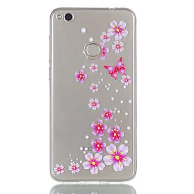 غطاء من أجل هواوي P9 لايت Huawei هواوي P8 لايت شفاف نموذج غطاء خلفي فراشة زهور ناعم TPU إلى Huawei P9 Lite P8 Lite (2017) Huawei P8 Lite