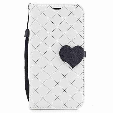 Maska Pentru Samsung Galaxy A5(2017) A3(2017) Titluar Card Portofel Cu Stand Întoarce Magnetic Carcasă Telefon Inimă Greu PU piele pentru