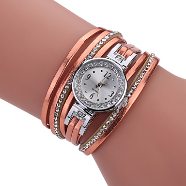 Damen Einzigartige kreative Uhr Armband-Uhr Modeuhr Armbanduhren für den Alltag Quartz PU Band Charme Luxus Kreativ Freizeit Elegant Cool