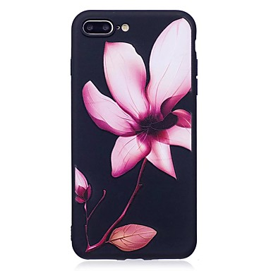 Maska Pentru Apple iPhone 7 Plus iPhone 7 Model Embosat Capac Spate Floare Moale TPU pentru iPhone 7 Plus iPhone 7 iPhone 6s Plus iPhone