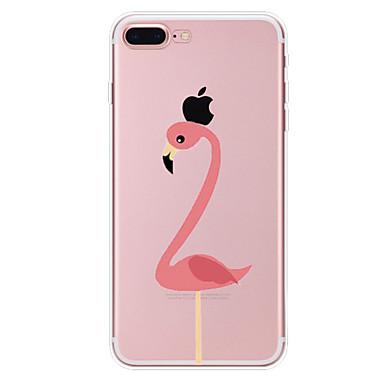 Hülle Für Apple iPhone X iPhone 8 Transparent Muster Rückseite Flamingo Weich TPU für iPhone X iPhone 8 Plus iPhone 8 iPhone 7 Plus