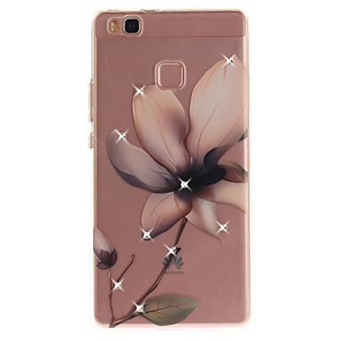 Voor huawei p8 p9 hoesje hoesje magnolia bloem patroon hd geschilderd boor tpu materiaal imd proces hoge penetratie telefoon hoesje p10