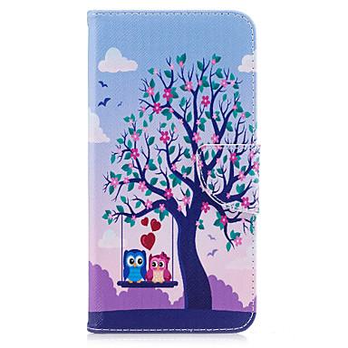 غطاء من أجل Apple iPhone 7 Plus iPhone 7 حامل البطاقات محفظة مع حامل قلب نموذج غطاء كامل للجسم شجرة بوم قاسي جلد PU إلى iPhone 7 Plus