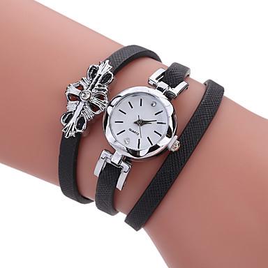 Damen Einzigartige kreative Uhr Armband-Uhr Modeuhr Armbanduhren für den Alltag Quartz Schlussverkauf PU Band Charme Luxus Kreativ