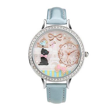 Dames Modieus horloge Kwarts Digitaal Waterbestendig PU Band Blauw