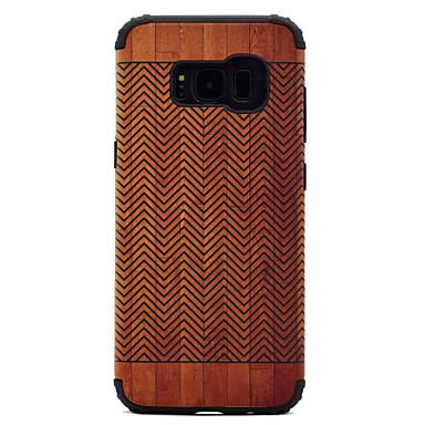 Hülle Für Samsung Galaxy S8 Plus S8 Stoßresistent Muster Rückseitenabdeckung Holzmaserung Hart PC für S8 S8 Plus S7 edge S7