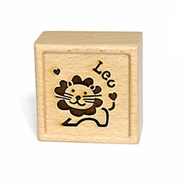 Muziekdoos Speeltjes Vierkant Hout Stuks Unisex Geschenk