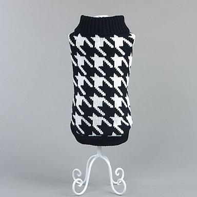 Câine Pulovere Îmbrăcăminte Câini Tartan/Carouri Rosu Negru Bumbac Costume Pentru animale de companie Bărbați Pentru femei Casul/Zilnic