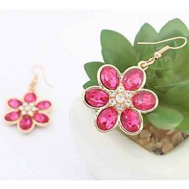 للرجال للمرأة أقراط الزر الماس الاصطناعية مخصص زهري موديل الورد قديم أساسي مثيرة أزهار euramerican في اسلوب لطيف موضة أكريليك حجر الراين