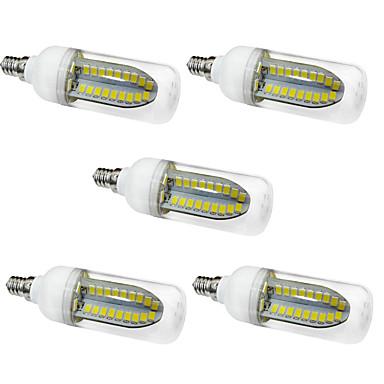 5W E12 LED-maïslampen T 80 LEDs SMD 5730 Warm wit Wit 1000