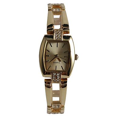 Dames Modieus horloge Armbandhorloge Japans Kwarts / Legering Band Vrijetijdsschoenen Goud