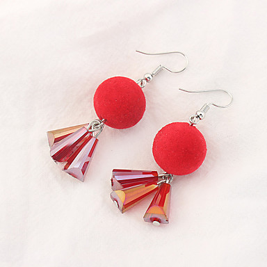 Damen Tropfen-Ohrringe Euramerican Modisch Kupfer Glas Kugel Schmuck Für Party Alltag