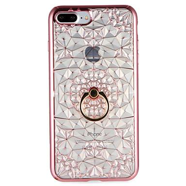Pentru Carcase Huse Suport Inel Carcasă Spate Maska Model Geometric Moale TPU pentru AppleiPhone 7 Plus iPhone 7 iPhone 6s Plus iPhone 6