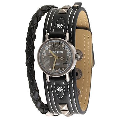 Dames Modieus horloge Kwarts Leer Band Zwart