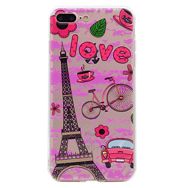 hoesje Voor Apple Transparant Patroon Achterkantje Zacht voor iPhone 7 Plus iPhone 7 iPhone 6s Plus iPhone 6 Plus iPhone 6s Iphone 6
