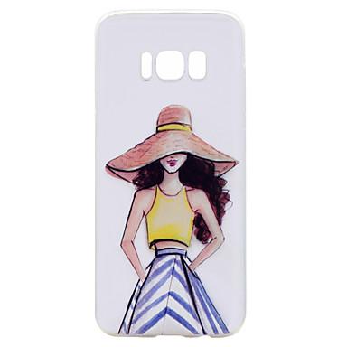 Voor Samsung Galaxy S8 case cover droom meisje serie geschilderd hoge penetratie tpu materiaal zachte case telefoon hoesje