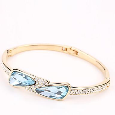 Dames Bangles Sieraden Vintage Natuur Modieus Met de Hand Gemaakt Kristal Strass Legering Ovalen vorm Sieraden Voor Bruiloft Feest