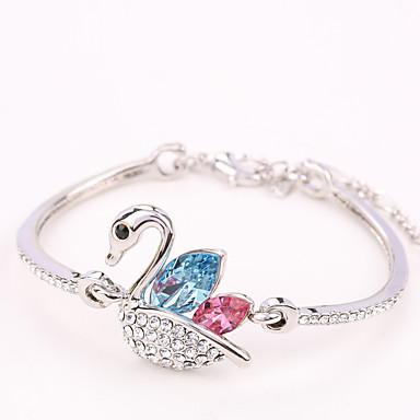 Dames Bangles Sieraden Vintage Natuur Modieus Met de Hand Gemaakt Kristal Legering Hartvorm Sieraden Voor Bruiloft Feest Verjaardag